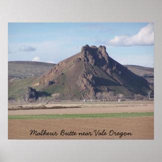 Malheur Butte Poster