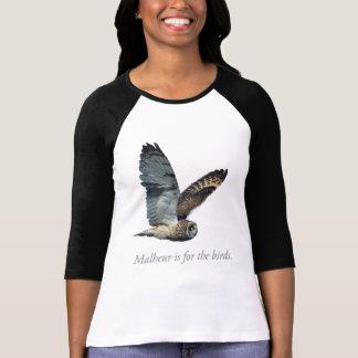 Malheur está para la camiseta del búho de los