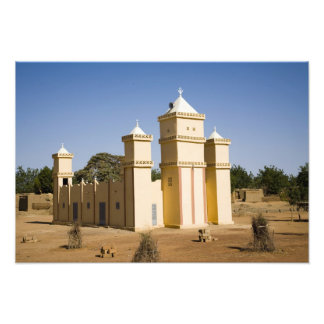 Mali, Bamako. Mosque, Bamako-Djenne Road Photographic Print