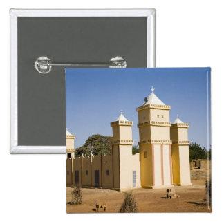 Mali, Bamako. Mosque, Bamako-Djenne Road Pinback Button