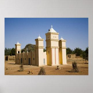 Mali, Bamako. Mosque, Bamako-Djenne Road Poster