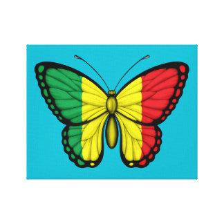 Mali Butterfly Flag Gallery Wrapped Canvas