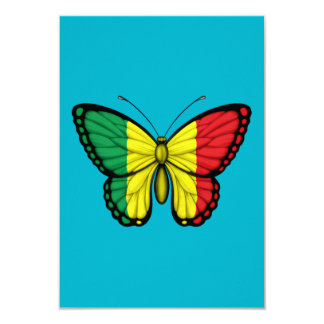 Mali Butterfly Flag Card