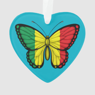 Mali Butterfly Flag Ornament