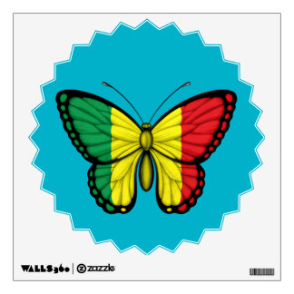 Mali Butterfly Flag Wall Decal
