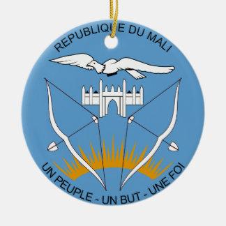 Mali Coat of Arms Ceramic Ornament