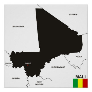 mali country political map flag posters