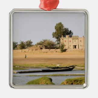 Mali, Djenne. Bani River near Djenne Metal Ornament