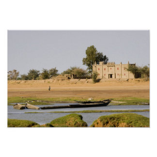 Mali, Djenne. Bani River near Djenne Posters
