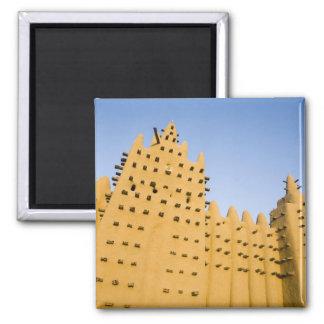 Mali, Djenne. Grand Mosque 2 Inch Square Magnet