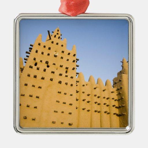 Mali, Djenne. Grand Mosque Ornaments
