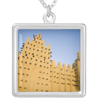 Mali, Djenne. Grand Mosque Silver Plated Necklace