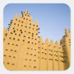 Mali, Djenne. Grand Mosque Square Sticker