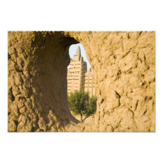 Malí, Djenne. Mezquita magnífica 2 Impresion Fotografica