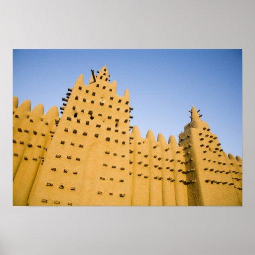 Malí, Djenne. Mezquita magnífica Póster