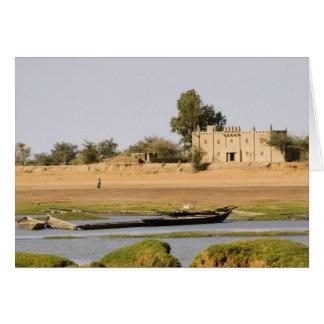 Malí, Djenne. Río de Bani cerca de Djenne Tarjeta De Felicitación