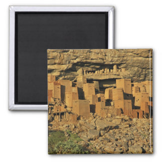 MALI, Dogon Lands. Traditional Tellem malian 2 Inch Square Magnet