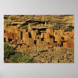 MALI, Dogon Lands. Traditional Tellem malian Poster