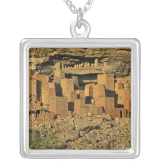 MALI, Dogon Lands. Traditional Tellem malian Square Pendant Necklace