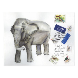 Malí el bosquejo del elefante por Sia Tarjeta Postal