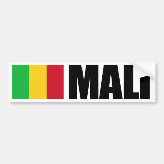 Mali Flag Bumper Sticker