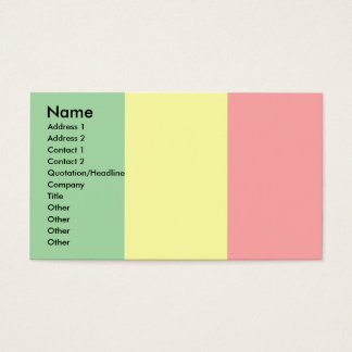 Mali Flag Business Card