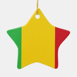 Mali Flag Ceramic Ornament
