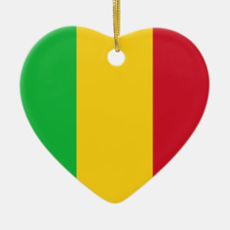 Mali Flag Heart Ornament
