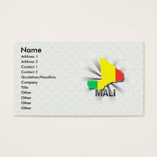 Mali Flag Map 2.0 Business Card