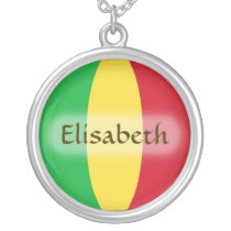 Mali Flag   Name Necklace
