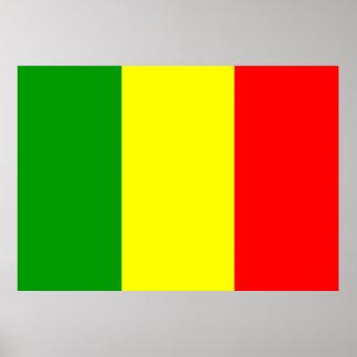 Mali Flag Poster