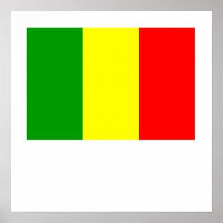 Mali Flag Print