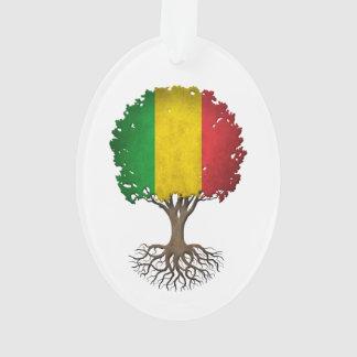 Mali Flag Tree of Life Customizable Ornament