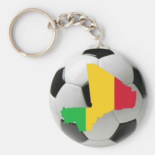 Mali football soccer basic round button keychain