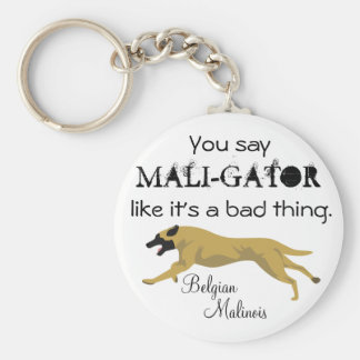 Mali-Gator Basic Round Button Keychain