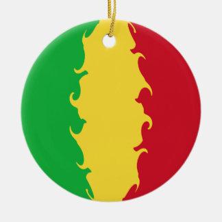 Mali Gnarly Flag Ceramic Ornament