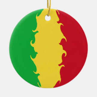 Mali Gnarly Flag Double-Sided Ceramic Round Christmas Ornament