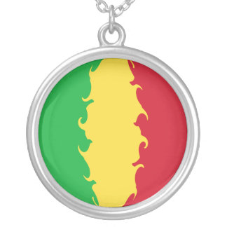 Mali Gnarly Flag Silver Plated Necklace