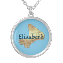 Mali Map   Name Necklace
