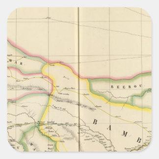 Mali Mauritania and Burkina, Africa Square Sticker