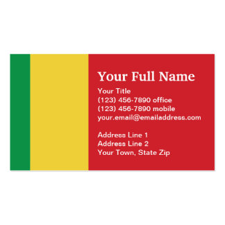 Mali Plain Flag Business Card