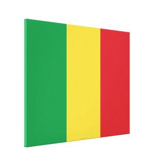 Mali Plain Flag Canvas Print