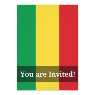 Mali Plain Flag Card