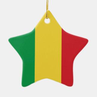 Mali Plain Flag Ceramic Ornament