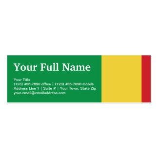 Mali Plain Flag Mini Business Card