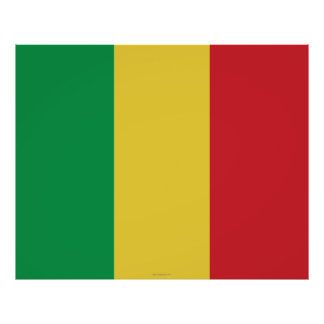 Mali Plain Flag Posters