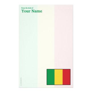 Mali Plain Flag Stationery