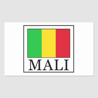 Mali Rectangular Sticker