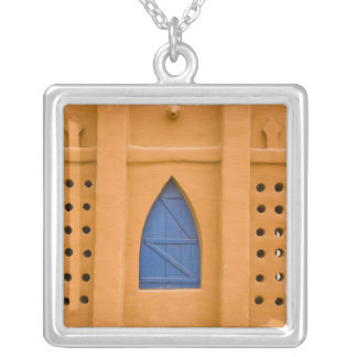 Mali, Segou. Traditional mud brick building Silver Plated Necklace