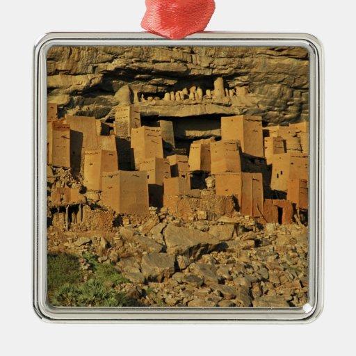MALÍ, tierras de Dogon. Maliano tradicional de Adorno Navideño Cuadrado De Metal